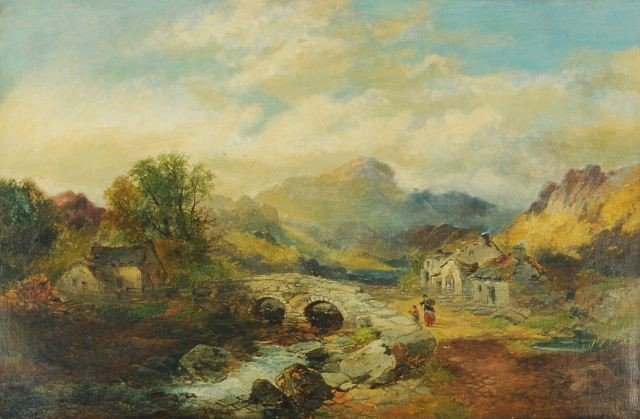 1: Joseph Horlor (British, 1809-1887) Welsh Border Scen