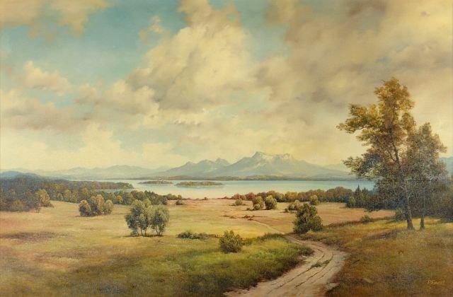 2: P. Ewert, (20th Century), Canadian Landscape, Oil