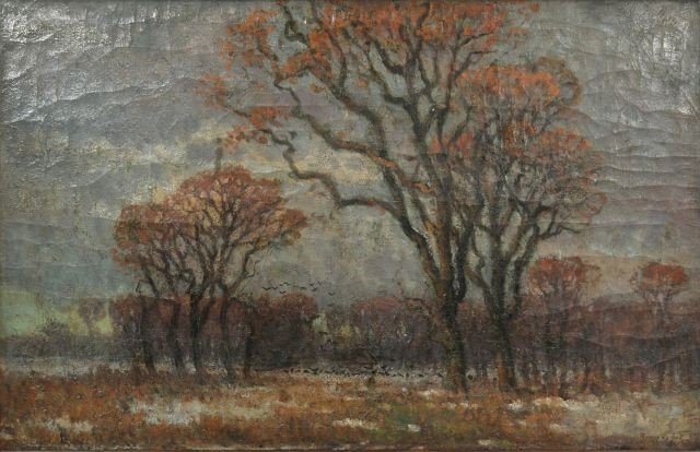 3: Istvan Bosznay (Hungarian, 1868-1944) Landscape with