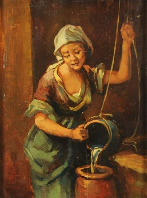 9: Artist Unknown, (20th Century), Rachel at the Well,