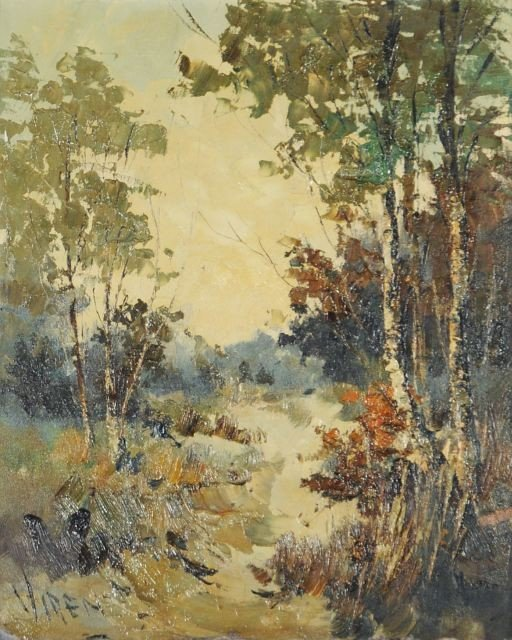 22A: Viren (20th Century) Landscape, Oil on canvas,