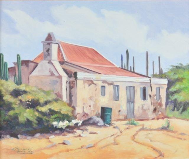 23: H. Bronspinkel (20th Century) Aruba, 1991, Oil on c