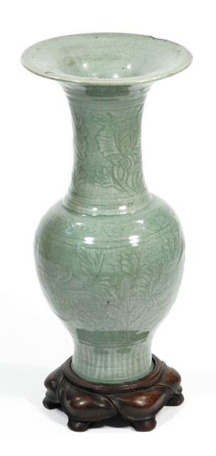 150: A Longquan Celadon Yen-Yen Vase, Ming Dynasty 16th