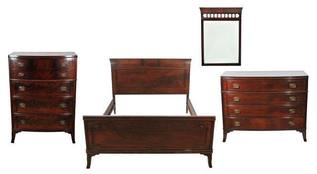 221: A Georgian Style Mahogany Four Piece Bedroom Set,