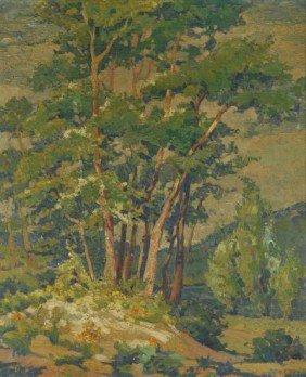 1: Florence Corell (Cleveland, 20th Century) Landscape,