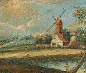 10: Dutch Old Master School (18th century) Landscape wi