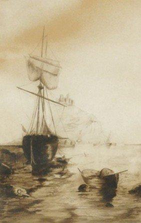 Artist Unknown (20th Century) Harbor Scene, Waterco