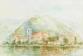 14: H. Leszczuk (20th century) Coastal Scene, Watercolo