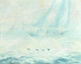 18: L. Mirman (20th Century) Foggy Day, Oil on board,