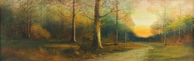 18B: Harry Linder (Finland, 1886-1931) Forest Landscape