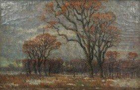 22: Istvan Bosznay (Hungarian, 1868-1944) Landscape wit