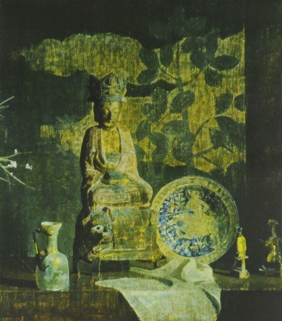 Hovsep Pushman (American 1877-1966) Still Life, Lit