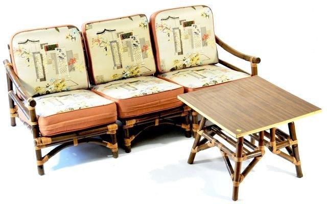 Vintage Rattan Furniture on Vintage Ficks Reed Rattan Furniture