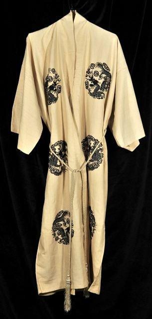 11: A Chinese Silk Ten Dragon Robe, 20th Century.