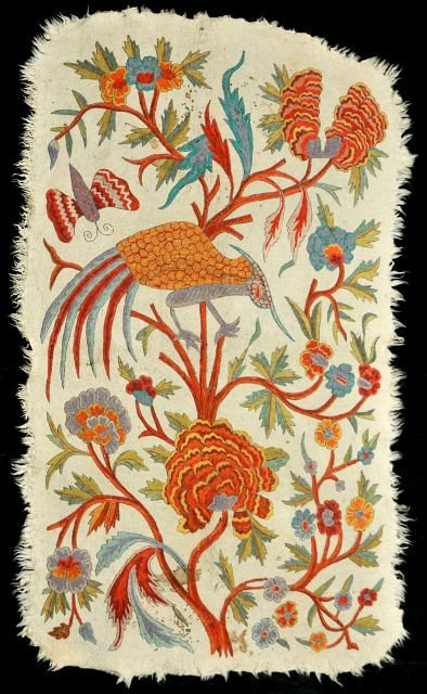 13A: An Indian Matted Wool Crewel Work Tree of Life Rug