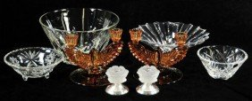 A Group Of Crystal And Glass Decorative Items,
