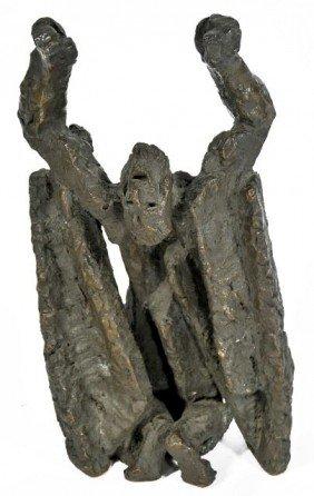 Ljubomir Dalchev (1902-2002) Job, Bronze,