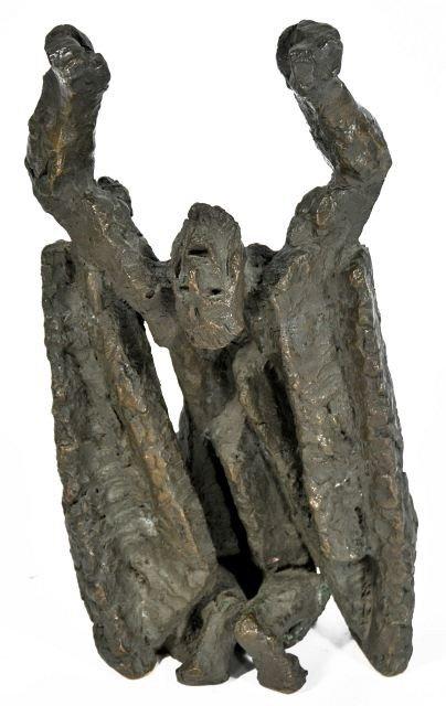 44: Ljubomir Dalchev (1902-2002) Job, Bronze,