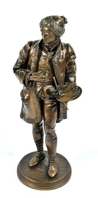 45: Jean Jules B. Salmson (1823-1902) Painter, Bronze,