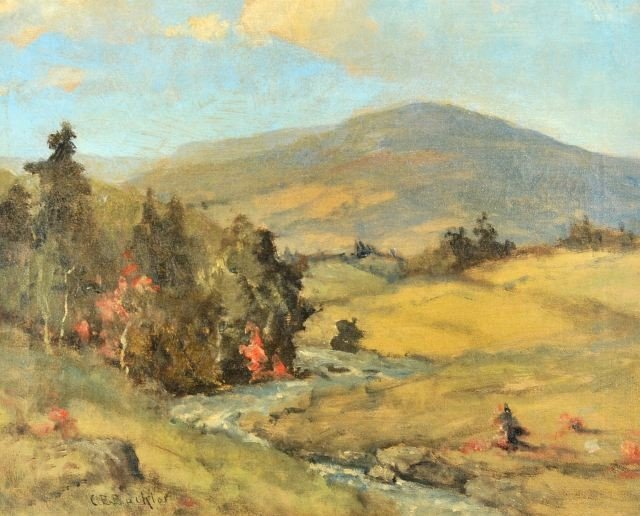 51: Charles E. Buckler (1869-1953) The River Valley, Oi