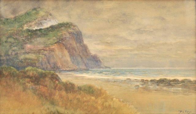 53: Burt L. Roys (20th Century) A British Coastal Scene