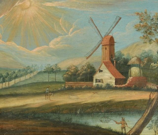 56: Dutch Old Master School (18th century) Landscape wi