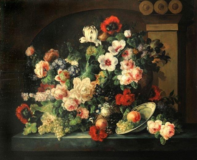 60: Ezbeco (20th Century) Dutch School Floral Still Lif
