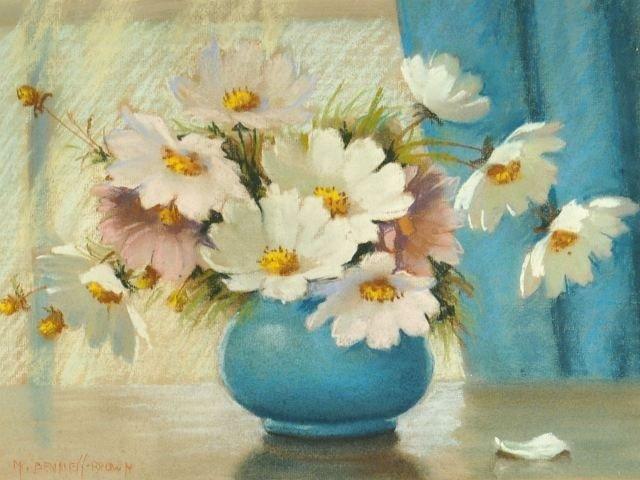 61: Mae Bennett Brown (1887-1973) Cosmos Floral Still L