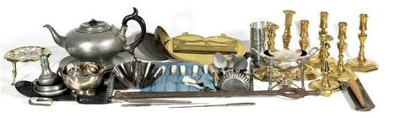 351: A Miscellaneous Collection of Brass, Pewter, Tin a