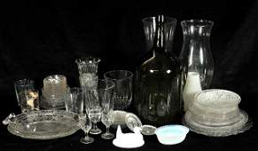 356: A Miscellaneous Collection of Pressed Glass Servin