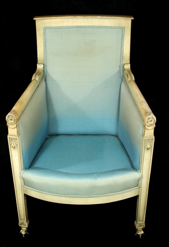 8: An Empire Style Painted Hardwood Armchair, 20th Cent
