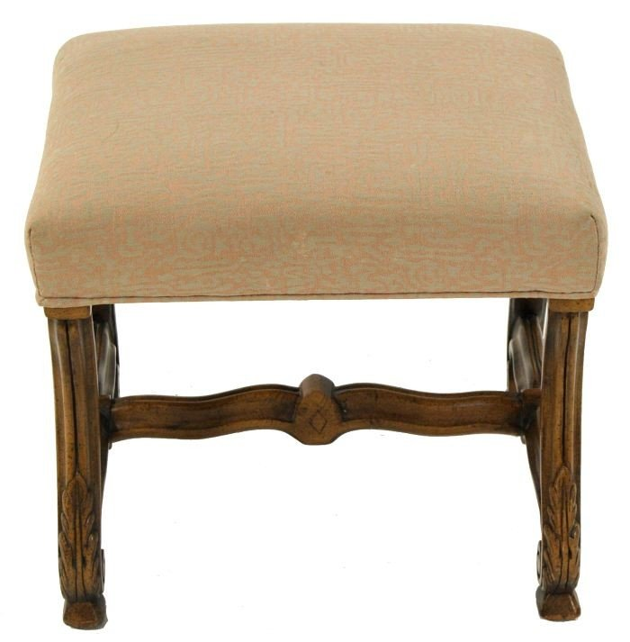 10: A French Provincial Style Painted Hardwood Bench,