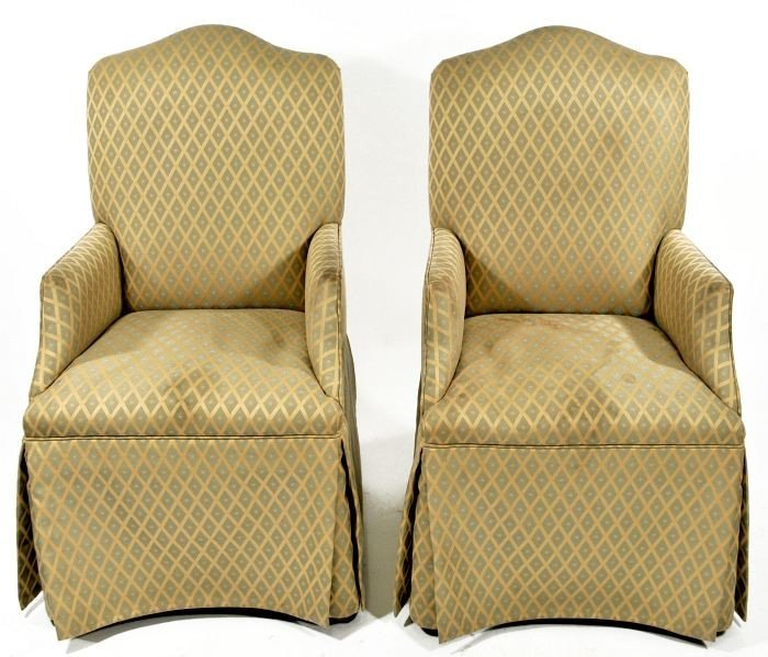 14: A Pair of Georgian Style Upholstered Armchairs, 20t
