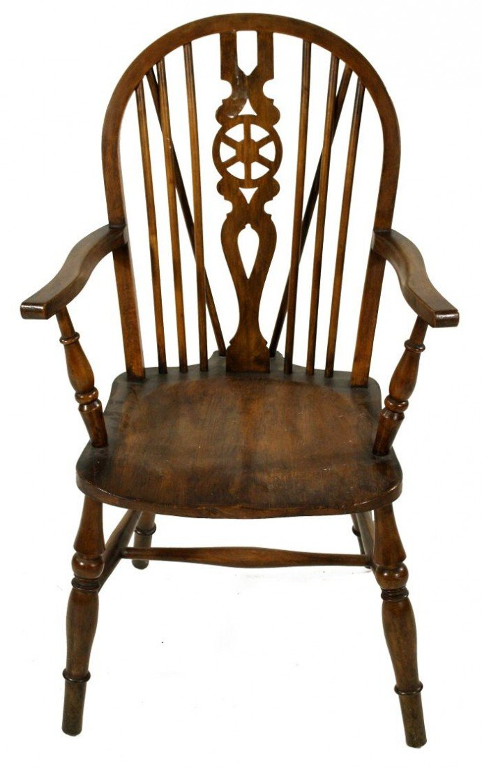 21A: A Windsor Style Oak Armchair, 20th century