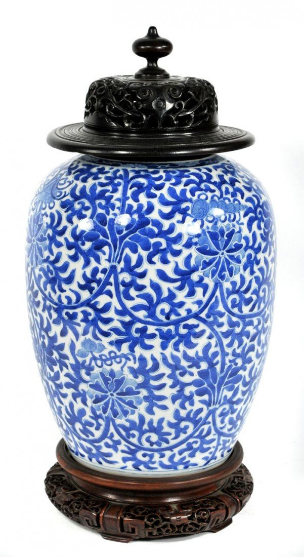 15A: A Chinese Blue and White Porcelain Jar, 20th Centu