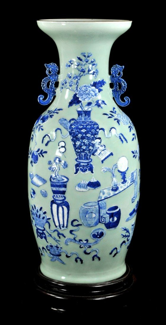 16: A Chinese Blue and White Celadon Porcelain Vase, 20