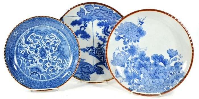 20: A Group of Three Chinese Blue and White Porcelain P