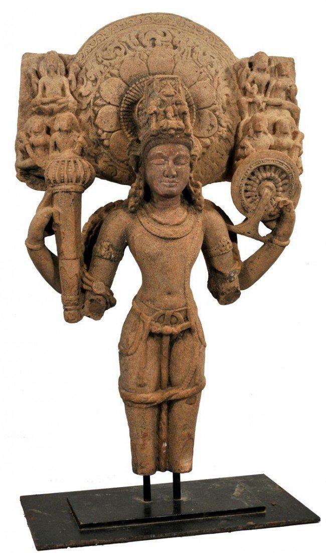 39: A Buff Sandstone Figure of Vishnu, India, 10th Cent