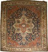 318: A Turkish Oushak Wool Rug, 20th Century.