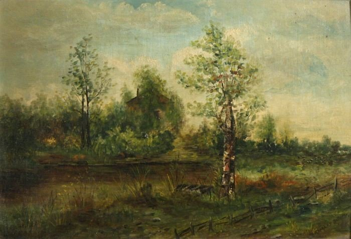 9: L. Bromley Bundy (19th Century) Landscape with Cotta