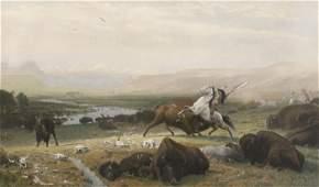 38: Albert Bierstadt (German, 1830-1902) The Last of th