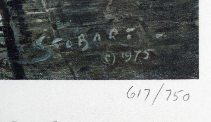 77: John Stobart (b.1929) Maiden Lane, New York in 1800 - 7