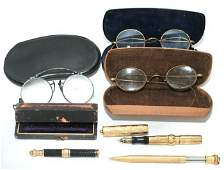 189: A Group of Three Vintage Eye Glasses,