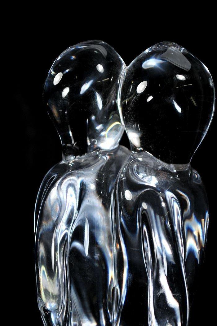 """301: A Murano Renato Anatra """"The Lovers"""" Glass Sculptur - 3"""