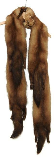 329: A Vintage Baum Marten Fur Stole,