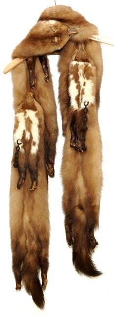 329: A Vintage Baum Marten Fur Stole, - 4
