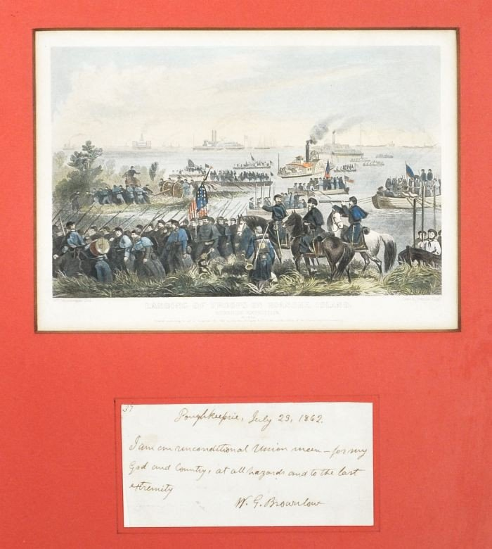 5: BROWNLOW, William Gannaway (1805-1877). Autograph Le