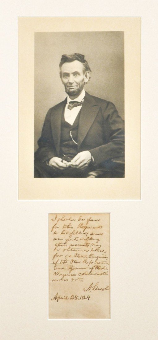 7A: COSEY, Joseph (1887-1950). [Abraham Lincoln] Forged