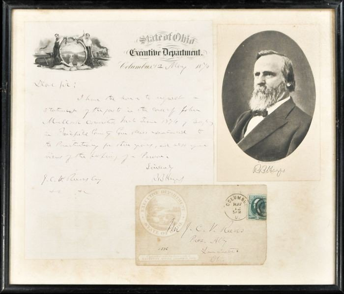 11: HAYES, Rutherford Birchard (1822-1893). Autograph L