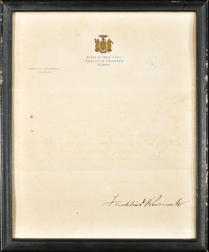 18: ROOSEVELT, Franklin D. (1882-1945). Autograph Typed